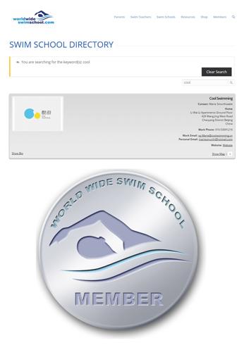 澳洲游泳学校会员证书